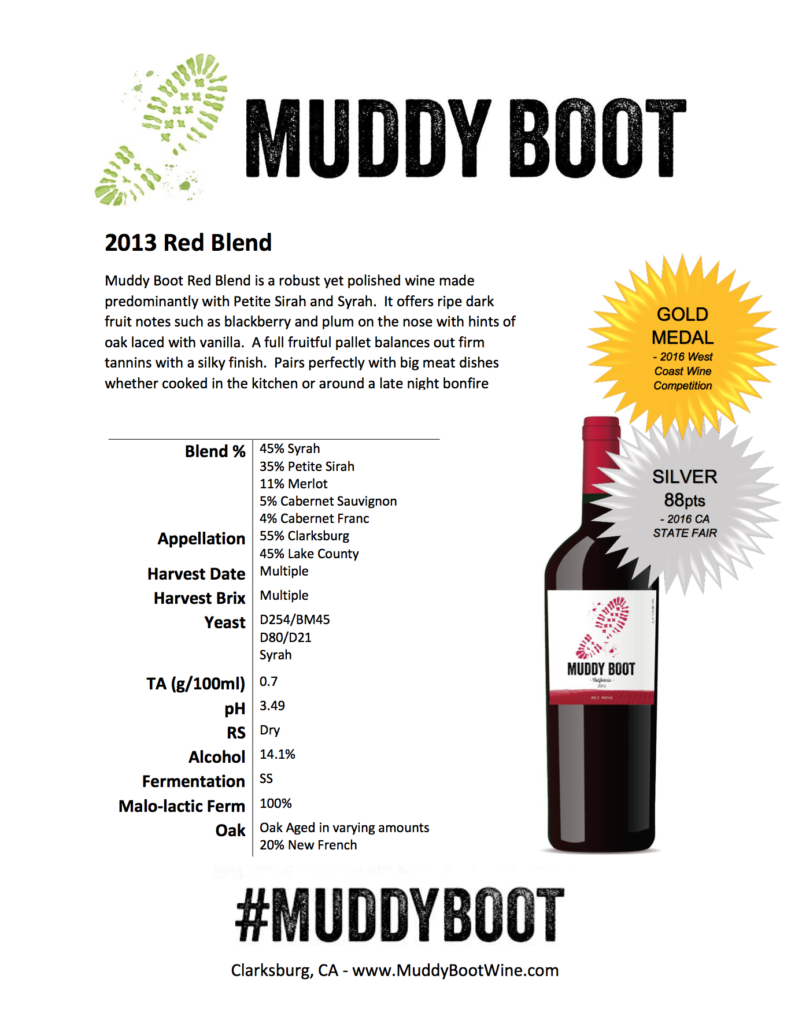 2013 Muddy Boot Red Blend