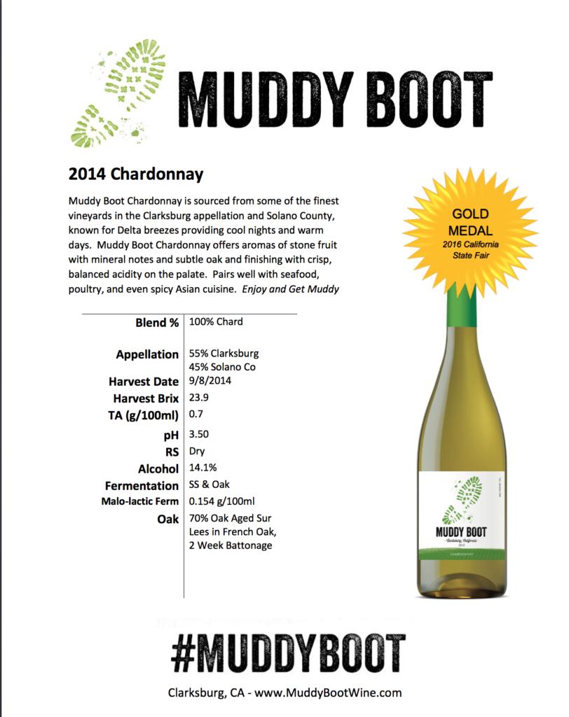 2014 Muddy Boot Chardonnay